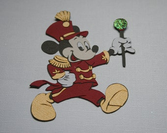 Disney - Parade Grand Marshall Mickey - Die Cut Paper Pieced Embellishment for Scrapbook Pages