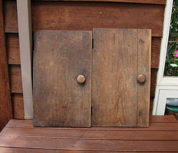 Like this item? - Antique Walnut Cupboard Doors Vintage Wood Doors DIY Cabinet