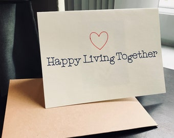 Happy Living Together Card