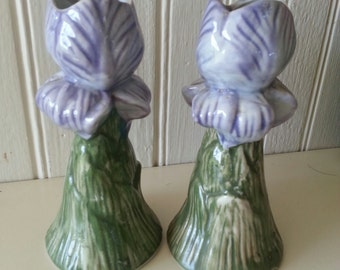 Iris Candlestick Holders