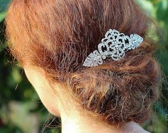 Art Deco Hair Comb , Gatsby Headpiece, Vintage Style Crystal Hair Comb, Art Deco headpiece,  Bridal Headpiece, Wedding Hair Comb