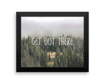Printable Get Out There Nature Art