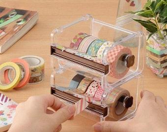 Washi Tape Dispenser Storage Case / Masking Tape Organizer / Tape Holder / Tape Cutter