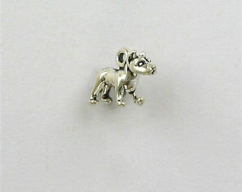 Sterling Silver 3-D Miniature Pit Bull Charm