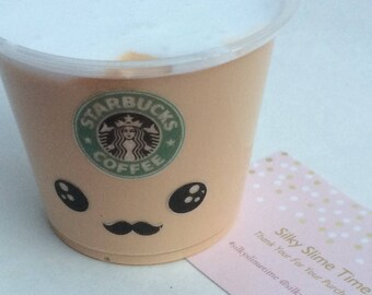 Starbucks Coffee Frappuccino Slime 5 oz (140 g) FluffySlime Scented Slime Stress Relief Therapy Tool Extras Included