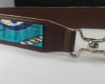 Vegan Leather and Ankara Belt with Metal Buckle Closure