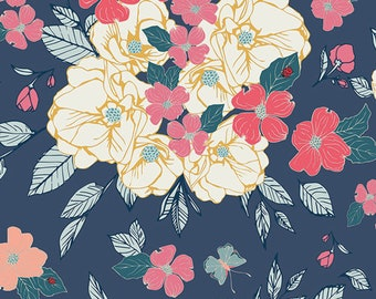 Art Gallery Fabrics, Flowering Chant Gentle, FCD-77150, FLOWER CHILD, Maureen Cracknell, Quilt Fabric, Cotton, Floral, Fabric By the Yard