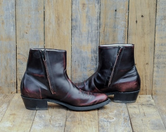 12 ankle western 45 ankle western 45 leather ankle cuban heel ankle cuban heel western oxblood ankle boot 45 oxblood boot 12 oxblood boot