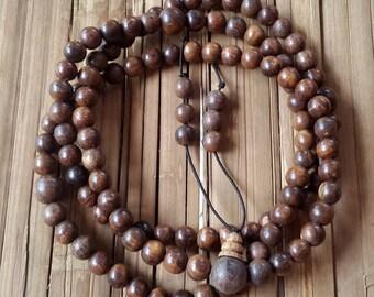 8 MM Gaharu Buaya 108 Beads Japa Mala Agarwood Meditation Prayer Aloeswood