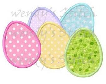 Easter eggs applique machine embroidery design digital pattern