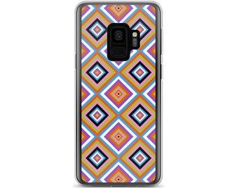 Kilim 05 Plaid Diamond Square Grid Bold Colors Colorful Samsung Cellphone Phone Case