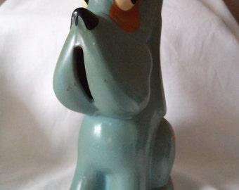Vintage Cute Bonzo Blue Money Bank (Ceramic)