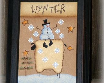 Winter Decor ~ Snowman Decor ~ Winter Sheep Decor ~ Seasonal Decor ~ Christmas Decor ~ Primitive Winter ~ Primitive Christmas