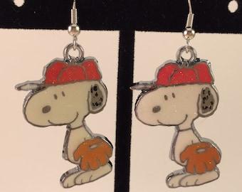 Baseball Snoopy Earrings (Item 308)
