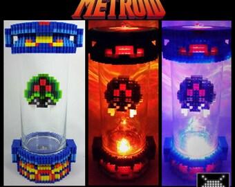 LED Lit 3D Metroid Capsule