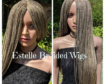 2 Tones Platinum Colours Braided Wig, Handmade Braids Wig, Loose Twist Rope, Outstanding Wig! 1 in stock!