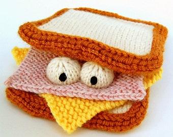 Sammich Amigurumi Sandwich Plush Toy Knitting Pattern PDF Instant Download