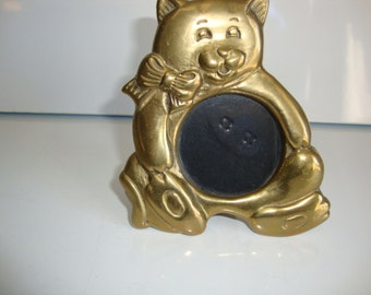 Picture Frame, Brass Teddy Bear Picture Frame
