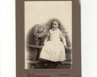 Girl with hat, identified cabinet card photo