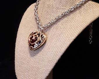 Legend of Zelda Heart Container Byzantine Necklace