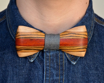 Exotic Wooden Bow Tie - Africana     Wood Bow Ties Mens Bow Ties Groomsmen Gifts Bowties