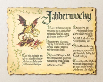 Custom Calligraphy Poem Poster with Large Watercolor Illustration Original