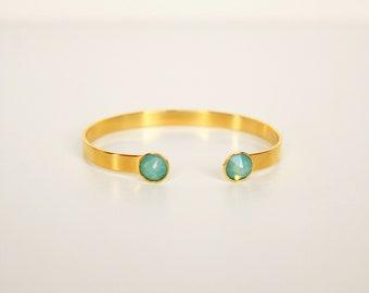 Blue Gold boho bracelet Swarovski Crystal bracelet stretch ethnic chic trend was