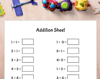 Math Sheets Printable - Addition- Subtraction- Multiplication- PDF