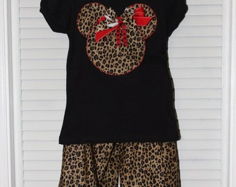Minnie Mouse, Animal Kingdom, Disney, Animal print, black, tshirt, tshirt, t-shirt, girl clothes, Minnie Mouse shirt, personalized, custom