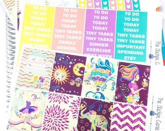 Painted Dreams Weekly Kit | planner sticker, weekly kit, elephant weekly kit, spring weekly kit, hot air balloon kit, floral weekly kit