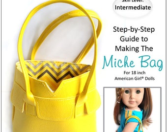 Pixie Faire Miche Designs Miche Bag Doll Clothes Pattern for 18 inch American Girl Dolls - PDF