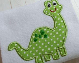 Applique dinosaur machine embroidery instant download file, appliqué embroidery dinosaurs, appliqué design, baby dinosaur designi