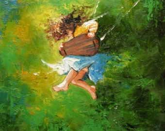 Print Swing25 16x20 inch Print from oil painting by Roz