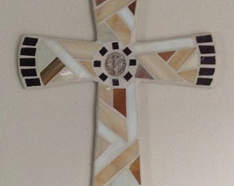 Unique Wall Cross ,Mosaic Cross, Wall Cross, Hand Made Wall Cross, Decorative Wall Cross, Original Wall Cross, Modern Wall Cross, Mosaic Art