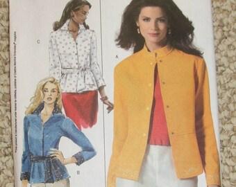 Butterick B4992 jacket and shirt pattern size 8-10-12-14