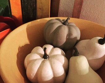 4 Chalk Painted Gourds
