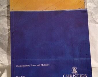 Christie's Auction House Art Catalog Contemporary Prints