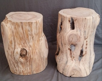 Natural Tree Stump Side Tables Or Seats