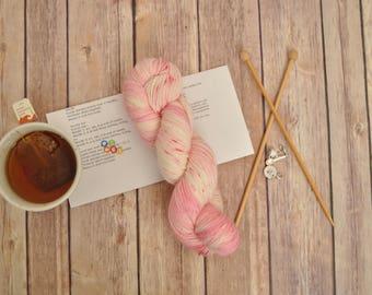 "Hand-dyed yarn, ""Beauty School Grad"" Variegated, soft and squishy yarn. Great for socks or shawls. 80/20 Superwash wool/Nylon"
