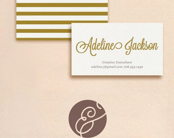 INSTANT DOWNLOAD - Script - DIY Printable Business Card