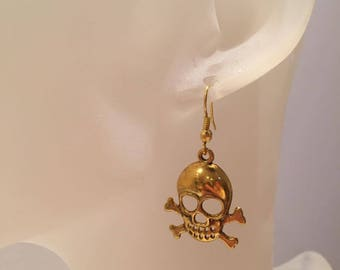Skull bone earrings
