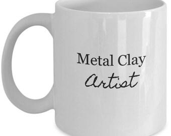 mugs for artists, artistic ceramic mug, gift idea for artist,artist gift ideas,artistic gift, gift for an artist, metal clay artist mug