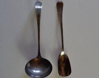 Vintage STERLING SILVER Ladle & Sugar Spoons