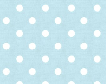 Mist and White Polka Dot Fabric - By The Yard - Boy / Girl / Gender Neutral