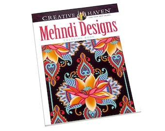 Brand New CREATIVE HAVEN Mehndi Designs Coloring Book- 60+ Pages