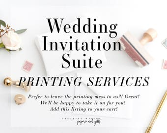 Wedding Invitation Suite - Invitation + RSVP Printing Service