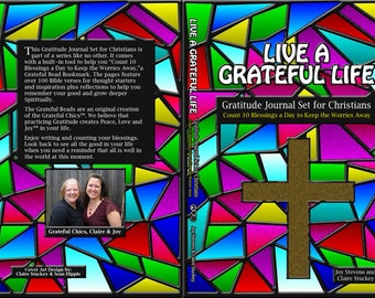 2018 Gratitude Journal for Christians Diary Prayer Bead Bookmark Thanksgiving For Men For Teens For Her Positive Book