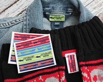 BOYS peel 'n stick clothing labels
