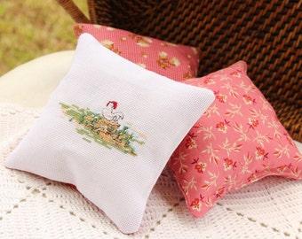 Country Chicken - Decorative Mini Pillows - Sachet - Bowl Filler
