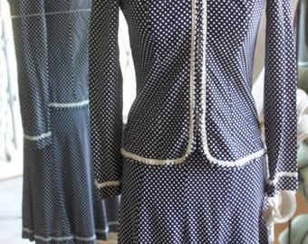 Vintage 1970s Dress & Jacket NOS New old Stock